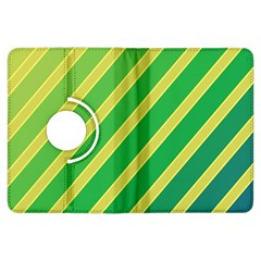 Green and yellow lines Kindle Fire HDX Flip 360 Case