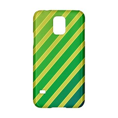 Green and yellow lines Samsung Galaxy S5 Hardshell Case
