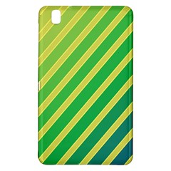Green and yellow lines Samsung Galaxy Tab Pro 8.4 Hardshell Case