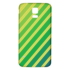 Green and yellow lines Samsung Galaxy S5 Back Case (White)