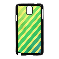 Green and yellow lines Samsung Galaxy Note 3 Neo Hardshell Case (Black)