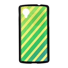 Green and yellow lines Nexus 5 Case (Black)