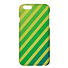 Green and yellow lines Apple iPhone 6 Plus/6S Plus Hardshell Case