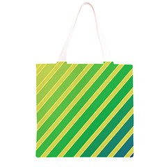 Green and yellow lines Grocery Light Tote Bag