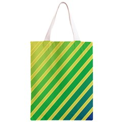 Green and yellow lines Classic Light Tote Bag