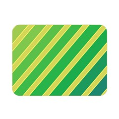 Green and yellow lines Double Sided Flano Blanket (Mini)