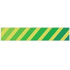 Green and yellow lines Flano Scarf (Large)