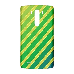 Green and yellow lines LG G3 Back Case