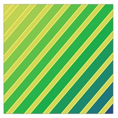 Green and yellow lines Large Satin Scarf (Square)
