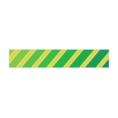 Green And Yellow Lines Flano Scarf (mini)