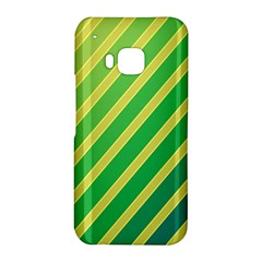 Green and yellow lines HTC One M9 Hardshell Case