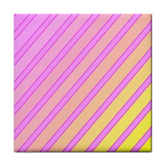 Pink and yellow elegant design Tile Coasters