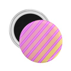 Pink and yellow elegant design 2.25  Magnets