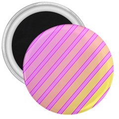 Pink and yellow elegant design 3  Magnets