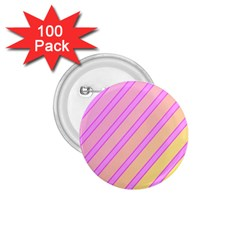 Pink and yellow elegant design 1.75  Buttons (100 pack)