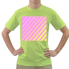 Pink and yellow elegant design Green T-Shirt