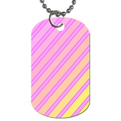 Pink and yellow elegant design Dog Tag (One Side)
