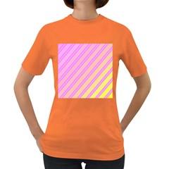 Pink and yellow elegant design Women s Dark T-Shirt