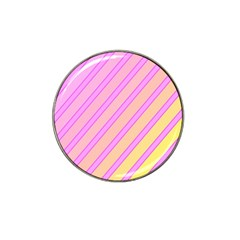 Pink and yellow elegant design Hat Clip Ball Marker