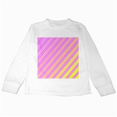 Pink and yellow elegant design Kids Long Sleeve T-Shirts
