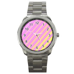 Pink and yellow elegant design Sport Metal Watch