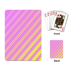 Pink and yellow elegant design Playing Card
