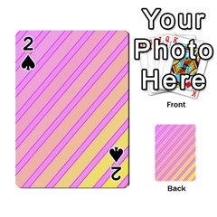 Pink and yellow elegant design Playing Cards 54 Designs