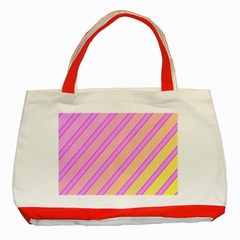 Pink and yellow elegant design Classic Tote Bag (Red)