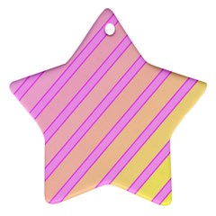 Pink and yellow elegant design Star Ornament (Two Sides)