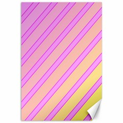 Pink and yellow elegant design Canvas 12  x 18