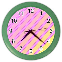 Pink and yellow elegant design Color Wall Clocks