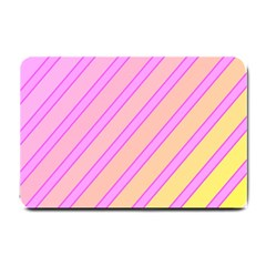 Pink and yellow elegant design Small Doormat