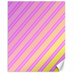 Pink and yellow elegant design Canvas 11  x 14