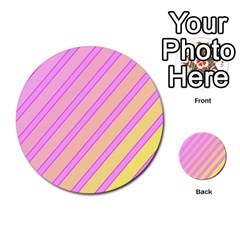 Pink and yellow elegant design Multi-purpose Cards (Round)