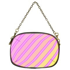 Pink and yellow elegant design Chain Purses (One Side)