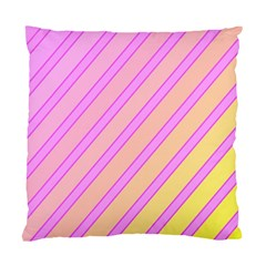 Pink and yellow elegant design Standard Cushion Case (Two Sides)