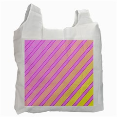 Pink and yellow elegant design Recycle Bag (One Side)