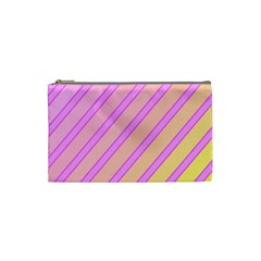 Pink and yellow elegant design Cosmetic Bag (Small)