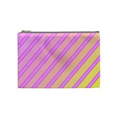 Pink and yellow elegant design Cosmetic Bag (Medium)
