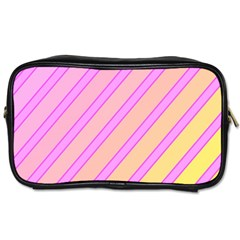 Pink and yellow elegant design Toiletries Bags 2-Side