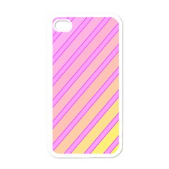Pink and yellow elegant design Apple iPhone 4 Case (White)