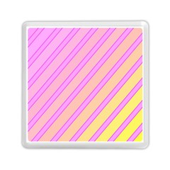 Pink and yellow elegant design Memory Card Reader (Square)