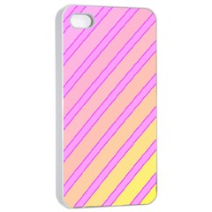 Pink and yellow elegant design Apple iPhone 4/4s Seamless Case (White)