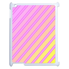 Pink and yellow elegant design Apple iPad 2 Case (White)