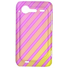 Pink and yellow elegant design HTC Incredible S Hardshell Case