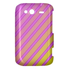 Pink and yellow elegant design HTC Wildfire S A510e Hardshell Case