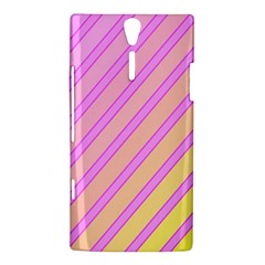 Pink and yellow elegant design Sony Xperia S