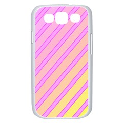 Pink and yellow elegant design Samsung Galaxy S III Case (White)