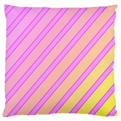 Pink and yellow elegant design Large Cushion Case (Two Sides)