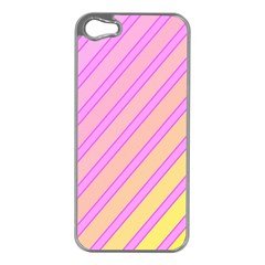 Pink and yellow elegant design Apple iPhone 5 Case (Silver)